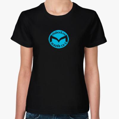 Женская футболка Женская футболка Sol's (черная)