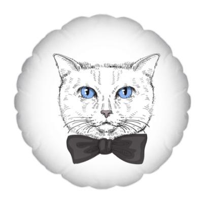 Подушка Hipster Cat