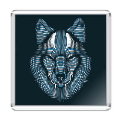 Магнит Волк