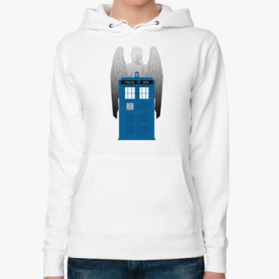Женская толстовка худи Weeping Angel Doctor Who