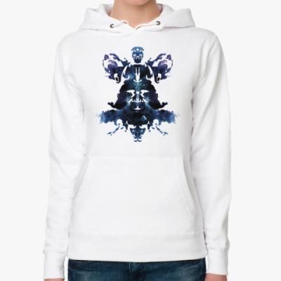 Женская толстовка худи Rorschach Darth Vader