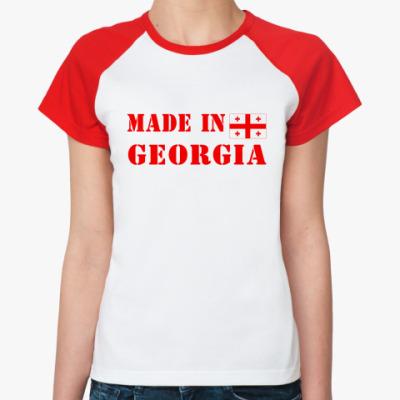 Женская футболка реглан Made in Georgia