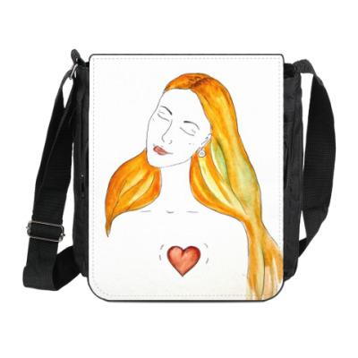 Сумка на плечо (мини-планшет) там, где сердце