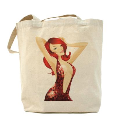 Сумка Холщовая сумка Девушка