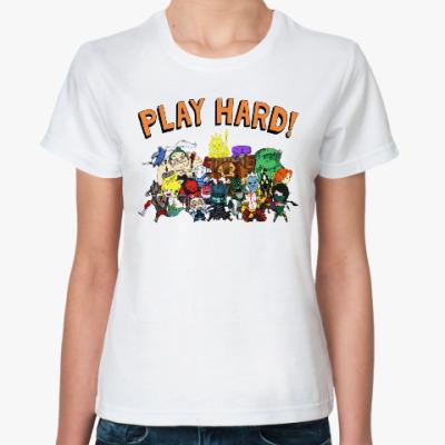 Классическая футболка Play Hard!