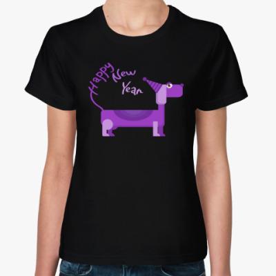 Женская футболка Такса символ года