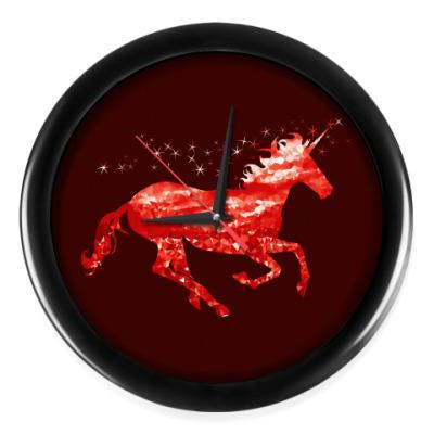 Настенные часы Рубиновый Единорог