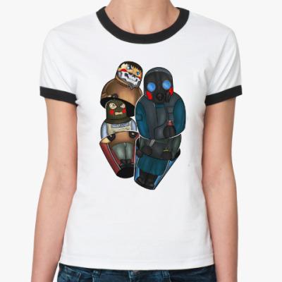 Женская футболка Ringer-T Матрёшка