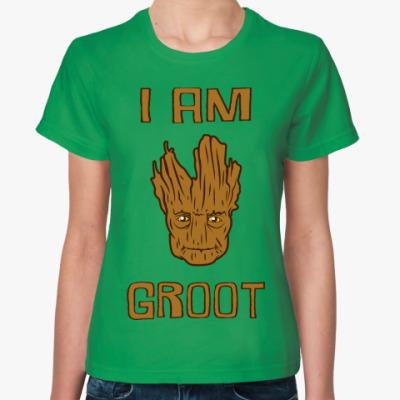 Женская футболка I am Groot