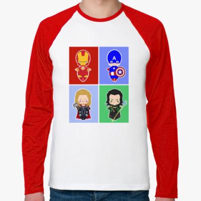 Футболка реглан с длинным рукавом Мстители (Avengers)