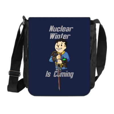 Сумка на плечо (мини-планшет) Ядерная Зима Близко
