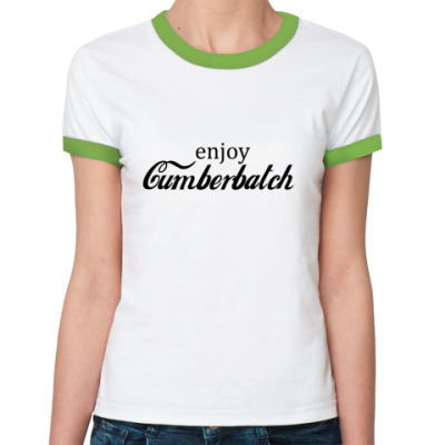 Женская футболка Ringer-T Cumberbatch