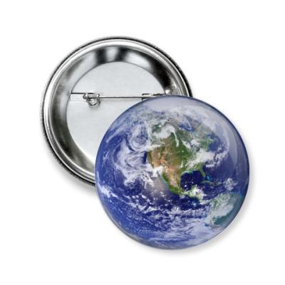 Значок 50мм Земля