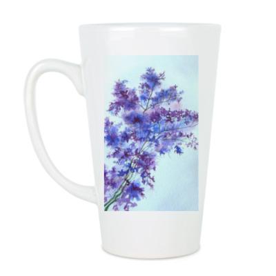 Чашка Латте Полевые цветы