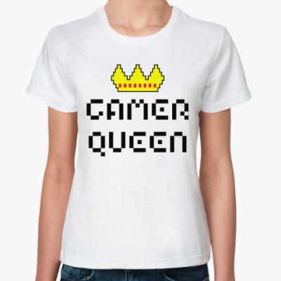 Классическая футболка 'gamer queen'