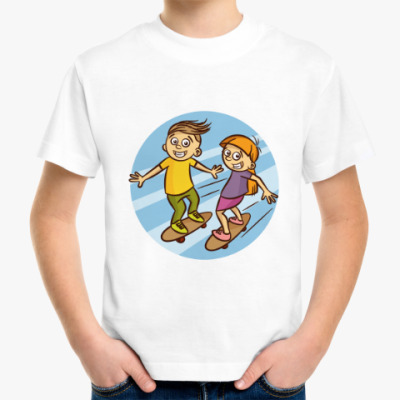 Детская футболка SKATEBOARDING KIDS