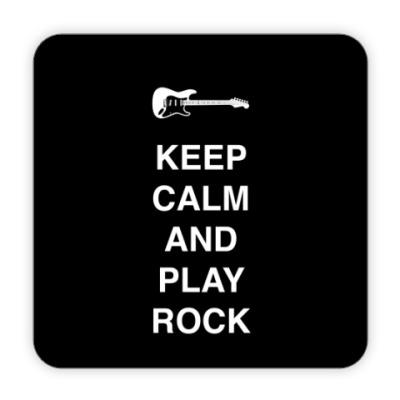 Костер (подставка под кружку) Keep calm and play rock