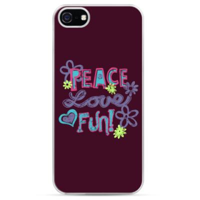 Чехол для iPhone Мир, Любовь, Веселье!