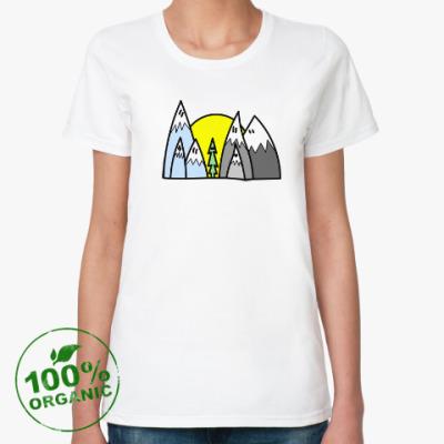 Женская футболка из органик-хлопка Горы