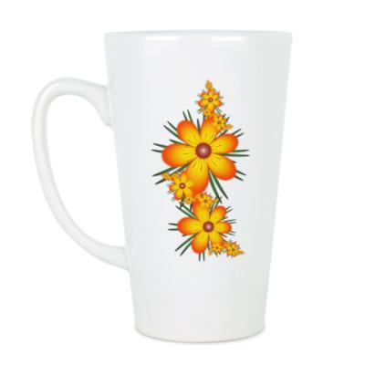 Чашка Латте Огнецветы