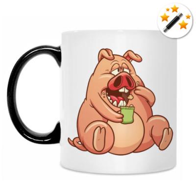 Кружка-хамелеон Fat Pig