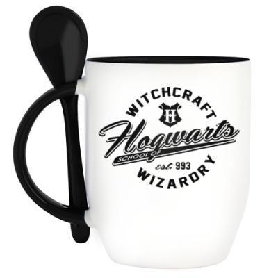 Кружка с ложкой Hogwarts