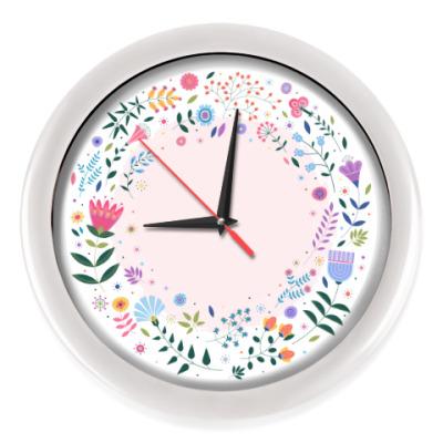 Настенные часы Цветы на рассвете
