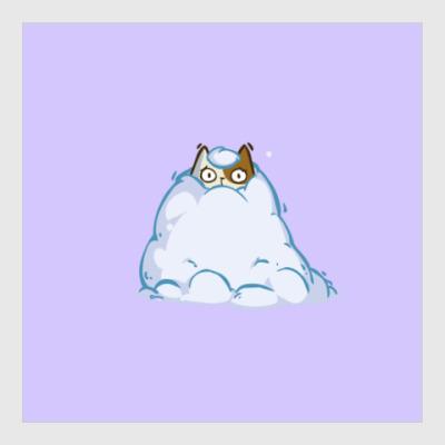 Постер Снегокот — Пятничный Котик №40