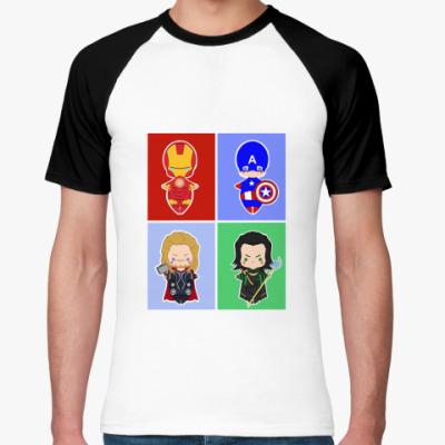 Футболка реглан Мстители (Avengers)