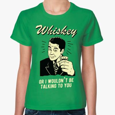 Женская футболка Виски