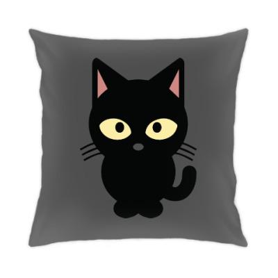 Подушка Черный Котик