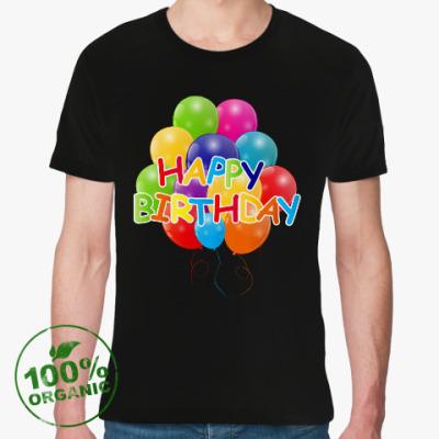 Футболка из органик-хлопка Happy Birthday