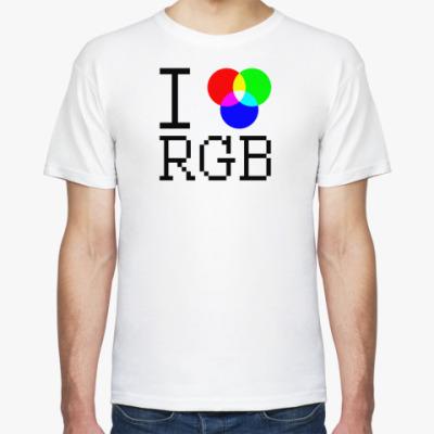 Футболка I love RGB