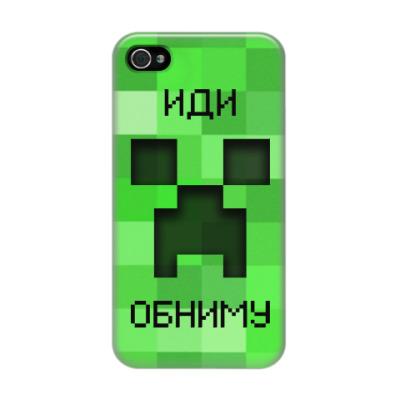 Чехол для iPhone 4/4s Иди Обниму Minecraft Creeper