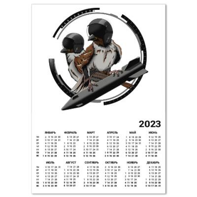 Календарь Птицы воробьи-истребители