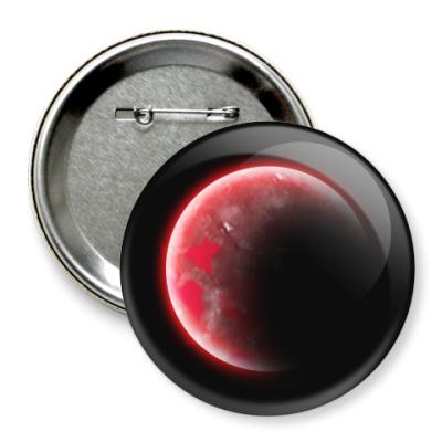 Значок 75мм Красная экзопланета