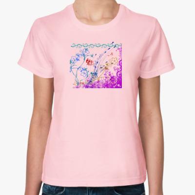Женская футболка Флора