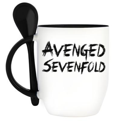 Кружка с ложкой Avenged Sevenfold