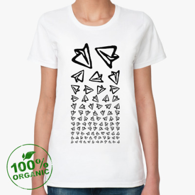 Женская футболка из органик-хлопка Telegram