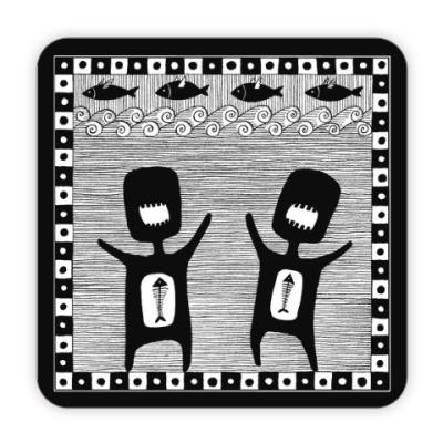 Костер (подставка под кружку) Танец голодных мужчин
