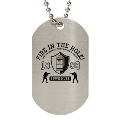 Жетон dog-tag Counter Strike