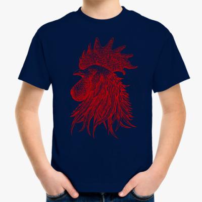 Детская футболка Красный петух символ Года