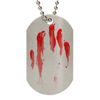 Жетон dog-tag Кровавый след