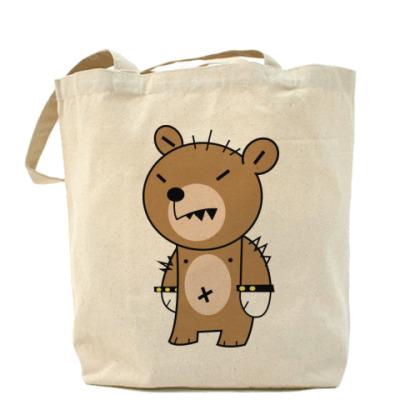 Сумка Холщовая сумка Bear punk