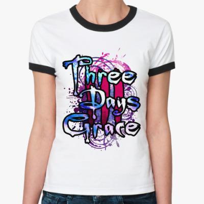 Женская футболка Ringer-T Three Days Grace