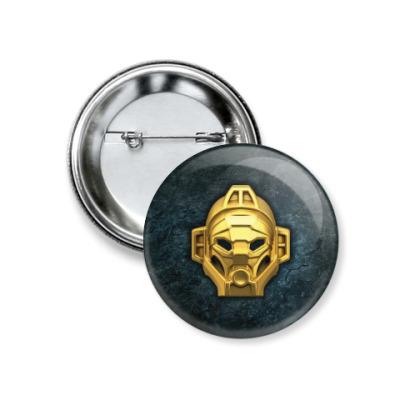 Значок 37мм Золотая маска Ливы