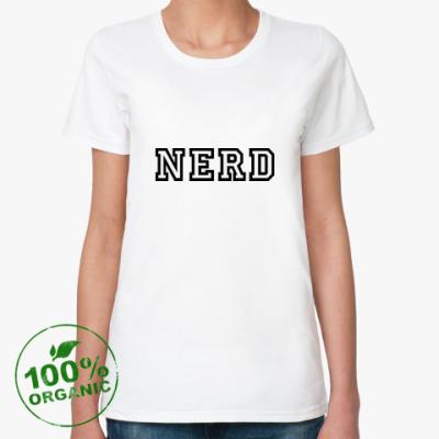 Женская футболка из органик-хлопка Нерд (Nerd)