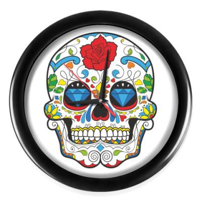 Настенные часы Dias de Los Muertos