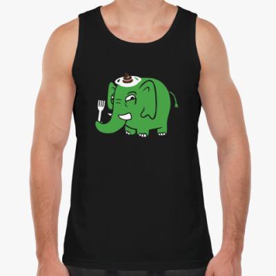 Майка Зелёный слоник
