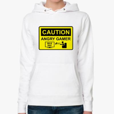 Женская толстовка худи Angry Gamer